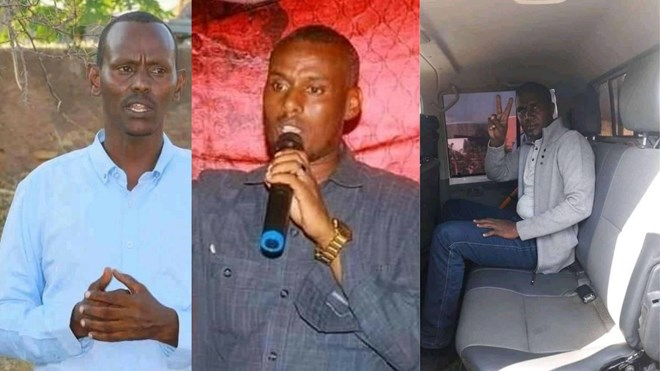From Left: Mohammed Jigre Gamadiid, Tamam Mohammed Mahmoud and Mohammed Ibrahim Mursal (Pictures: As sent to Addis Standard)