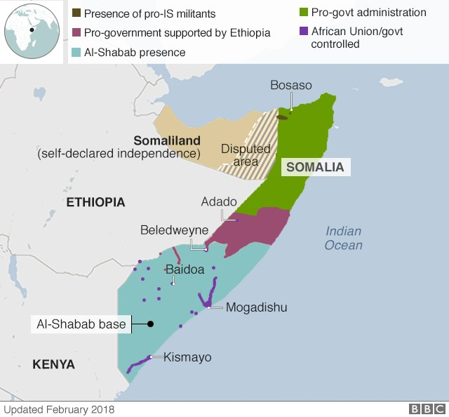 Al-Shabab still controls many rural areas of the country