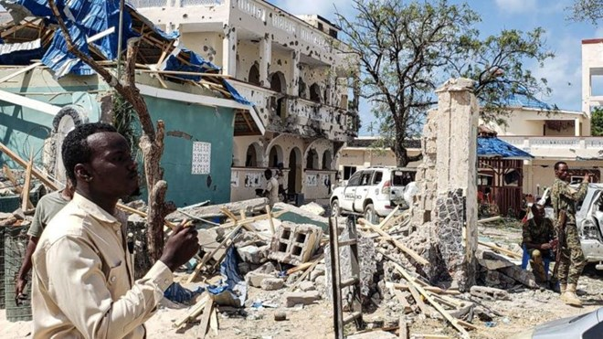 Al-Shabab carry out frequent bombing attacks in Somalia including this one in 2019.GETTY IMAGES