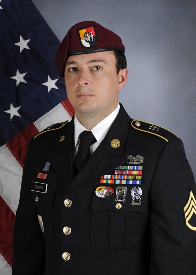 The Department of Defense on Saturday identified the American service member killed during a June 8 mission in Somalia against terror group Al-Shabaab as 26-year-old Staff Sgt. Alexander W. Conrad of Chandler, Arizona